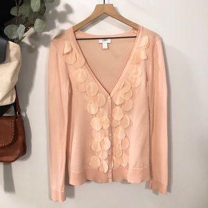 LOFT Petal Sweater Light Dusty Pink